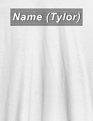 Personalised Unique Womens T Shirt With Name White Color