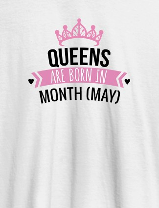 Queens Are Born In January Personalised Womens T Shirt With Name White Color