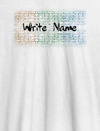Graffiti Brick Wall T Shirt With Name Womens Fashion Wear White Color