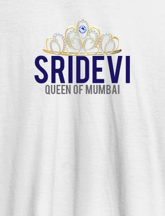 Queen of City Name and Text On White Color Women T Shirts with Name, Text, and Photo