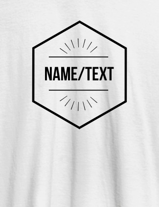 Simple Design with Name On White Color Personalized Women Tees