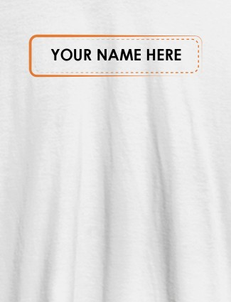 Your Name or Text On White Color Personalized T-Shirt for Women