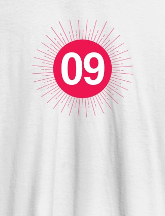 Your Lucky Number with Design On White Color Women T Shirts with Name, Text, and Photo