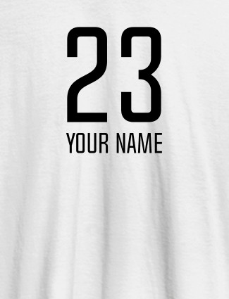 Number and Name On White Color Personalized T-Shirt for Women