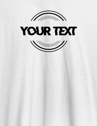 Stamp Theme with Your Name On White Color Women T Shirts with Name, Text, and Photo