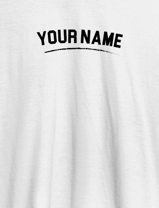 Signature Theme with Your Name On White Color Customized Women Tees
