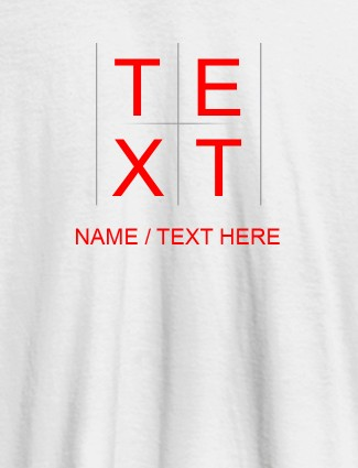 Write Your Name and Text On White Color T-shirts For Women with Name, Text and Photo
