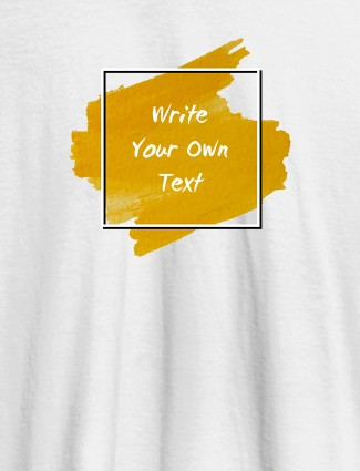 Splash Theme with your Name On White Color Personalized T-Shirt for Women