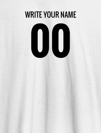 Name and Number On White Color Women T Shirts with Name, Text, and Photo