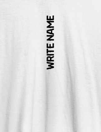 Vertical Name On White Color Personalized T-Shirt for Women