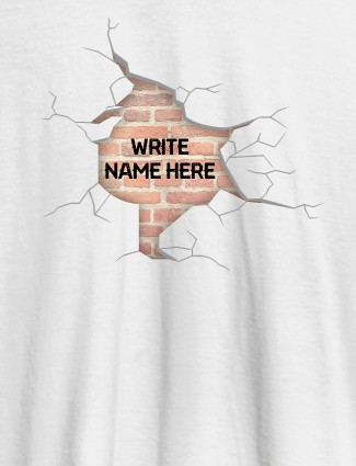 Brick Theme with Your Name On White Color Personalized Women Tshirt