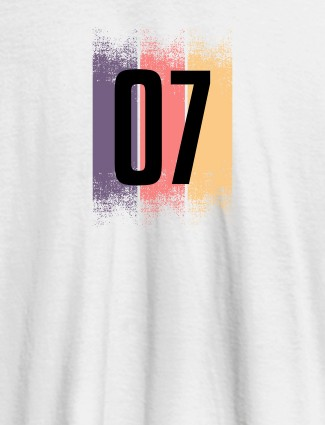 Your Favorite Number On White Color Customized Women T-Shirt
