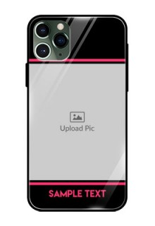 Apple iPhone 11 Pro Custom Glass Mobile Case  - with Add Text Design