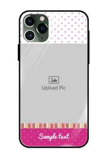 Apple iPhone 11 Pro Photo Printing on Glass Case  - Cute Girls Cover Design
