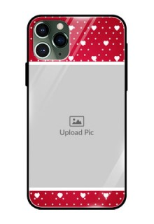Apple iPhone 11 Pro Photo Printing on Glass Case  - Hearts Mobile Case Design