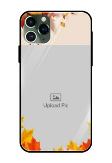 Apple iPhone 11 Pro Photo Printing on Glass Case  - Autumn Maple Leaves Design