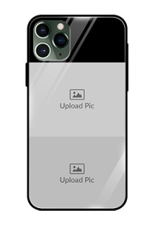 Iphone 11 Pro 2 Images on Glass Phone Cover