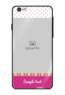 Apple iPhone 6 Plus Photo Printing on Glass Case  - Cute Girls Cover Design