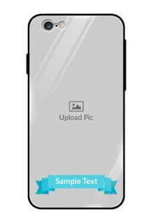 Apple iPhone 6 Personalized Glass Phone Case  - Simple Blue Color Design