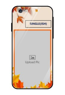 Apple iPhone 6 Photo Printing on Glass Case  - Autumn Maple Leaves Design
