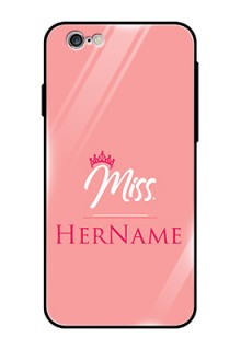 Iphone 6 Custom Glass Phone Case Mrs with Name