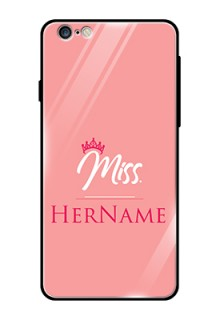Iphone 6S Plus Custom Glass Phone Case Mrs with Name