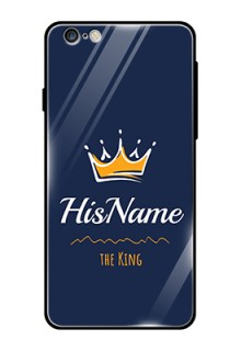 Iphone 6S Plus Glass Phone Case King with Name