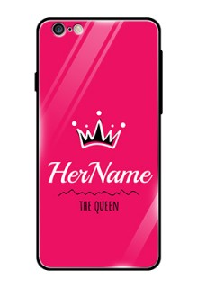 Iphone 6S Plus Glass Phone Case Queen with Name