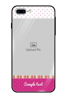 Apple iPhone 8 Plus Photo Printing on Glass Case  - Cute Girls Cover Design
