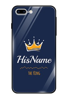 Iphone 8 Plus Glass Phone Case King with Name