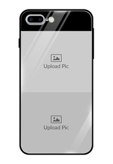 Iphone 8 Plus 2 Images on Glass Phone Cover