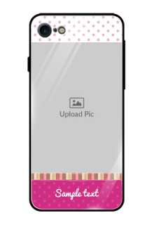 Apple iPhone 8 Photo Printing on Glass Case  - Cute Girls Cover Design