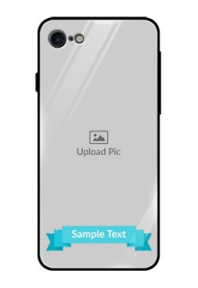 Apple iPhone 8 Personalized Glass Phone Case  - Simple Blue Color Design