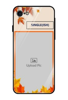 Apple iPhone 8 Photo Printing on Glass Case  - Autumn Maple Leaves Design