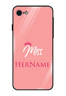 Iphone 8 Custom Glass Phone Case Mrs with Name