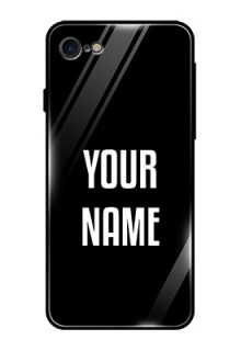 Iphone 8 Your Name on Glass Phone Case