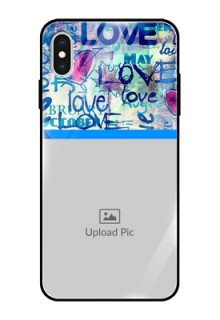 Apple iPhone XS Max Custom Glass Mobile Case  - Colorful Love Design