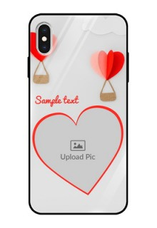 Apple iPhone XS Max Custom Glass Mobile Case  - Parachute Love Design