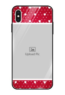 Apple iPhone XS Max Photo Printing on Glass Case  - Hearts Mobile Case Design