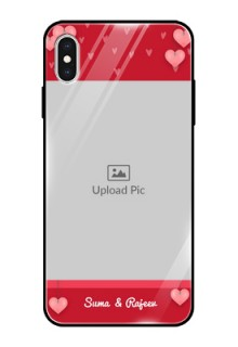 Apple iPhone XS Max Custom Glass Phone Case  - Valentines Day Design