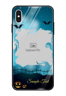 Apple iPhone XS Max Custom Glass Phone Case  - Halloween frame design