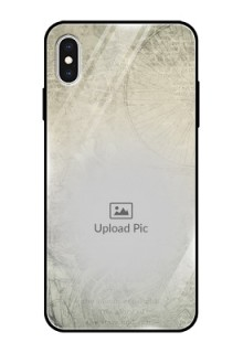 Apple iPhone XS Max Custom Glass Phone Case  - with vintage design