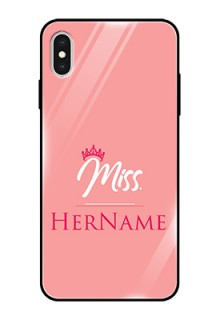 Iphone Xs Max Custom Glass Phone Case Mrs with Name