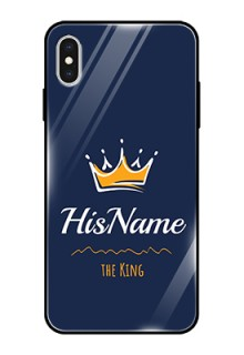 Iphone Xs Max Glass Phone Case King with Name