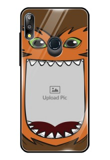 Zenfone Max pro M2 Photo Printing on Glass Case  - Owl Monster Back Case Design