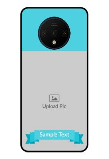 OnePlus 7T Personalized Glass Phone Case  - Simple Blue Color Design