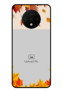 OnePlus 7T Photo Printing on Glass Case  - Autumn Maple Leaves Design