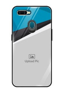 Oppo A7 Photo Printing on Glass Case  - Simple Pattern Photo Upload Design