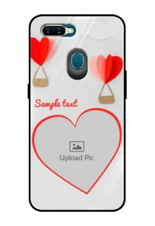 Oppo A7 Custom Glass Mobile Case  - Parachute Love Design