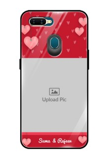 Oppo A7 Custom Glass Phone Case  - Valentines Day Design